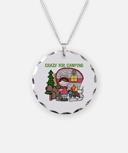 Girl Crazy For Camping Necklace