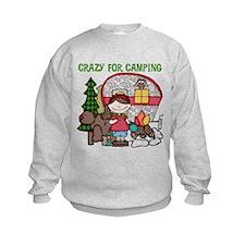 Girl Crazy For Camping Sweatshirt