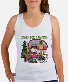 Girl Crazy For Camping Women's Tank Top