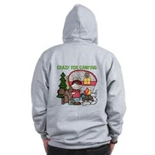 Girl Crazy For Camping Zip Hoodie