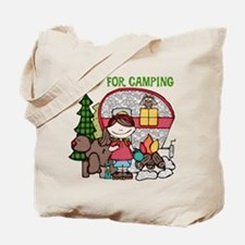 Girl Crazy For Camping Tote Bag