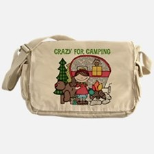 Girl Crazy For Camping Messenger Bag