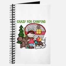 Girl Crazy For Camping Journal