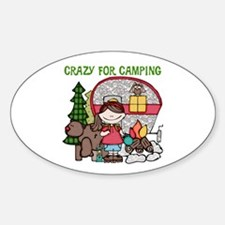 Girl Crazy For Camping Decal
