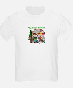 Boy Crazy For Camping T-Shirt