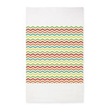 Colorful Chevron Stripes 3'x5' Area Rug