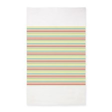 Cute Colorful Stripes 3'x5' Area Rug