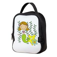 Brown Mermaid Neoprene Lunch Bag