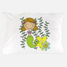 Brown Mermaid Pillow Case