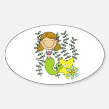 Brown Mermaid Decal