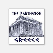 "Cute Greece Square Sticker 3"" x 3"""
