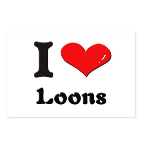 I love loons Postcards (Package of 8)