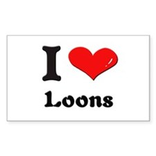 I love loons Rectangle Decal