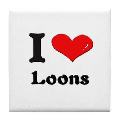 I love loons Tile Coaster