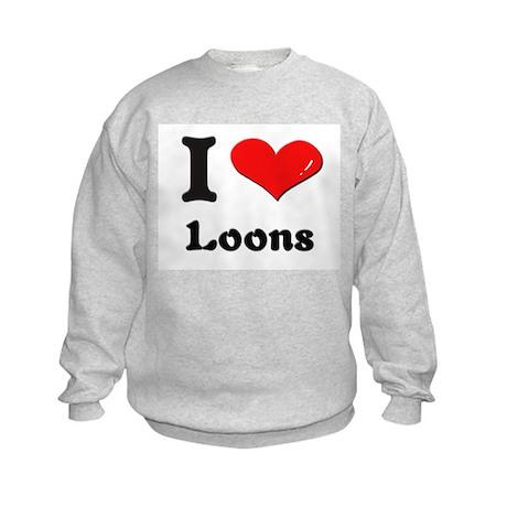 I love loons Kids Sweatshirt