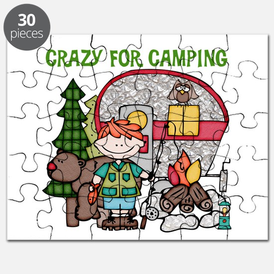 Boy Crazy For Camping Puzzle