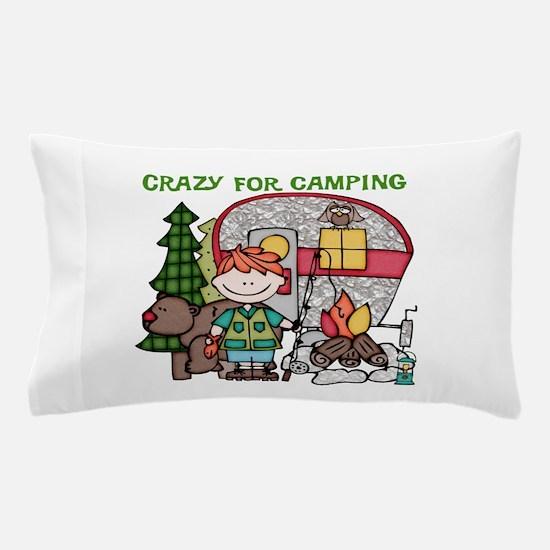 Boy Crazy For Camping Pillow Case