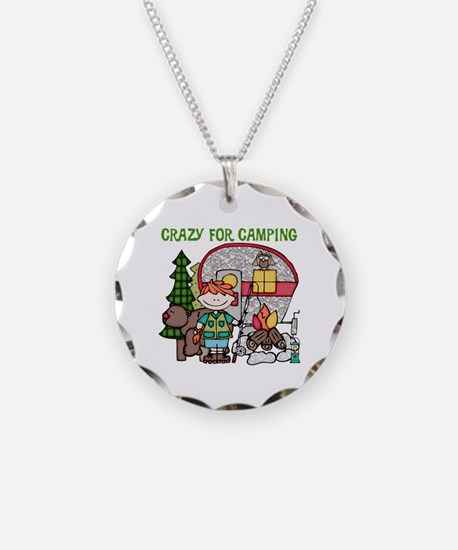 Boy Crazy For Camping Necklace
