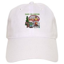 Boy Crazy For Camping Baseball Cap