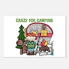Boy Crazy For Camping Postcards (Package of 8)
