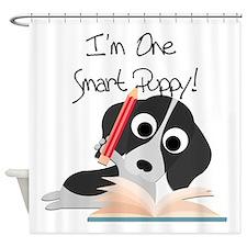 One Smart Puppy Shower Curtain