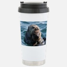 Sea Otters Swimming Travel Mug