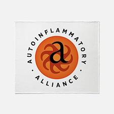 Round Autoinflammatory Alliance Logo Throw Blanket