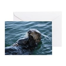 Sea Otter Eating Greeting Card