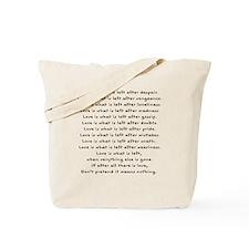Love is Left Tote Bag