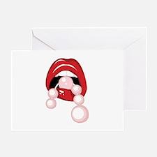 Pink Pearls Greeting Card