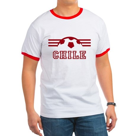 Chile Supporter Red And White Ringer T T-Shirt