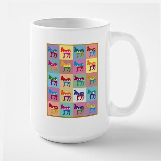 Pop Art Democrat Donkey Stainless Steel Travel Mug