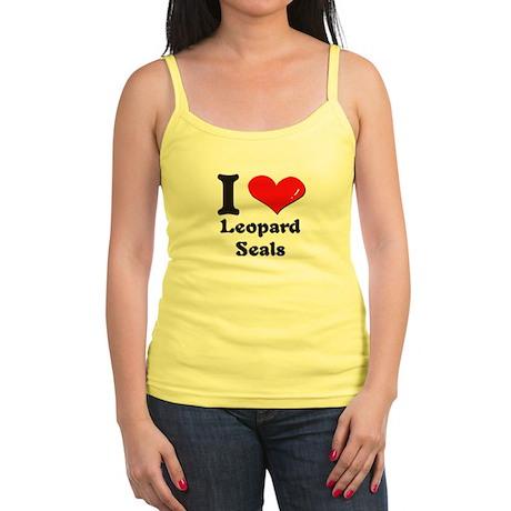 I love leopard seals Jr. Spaghetti Tank