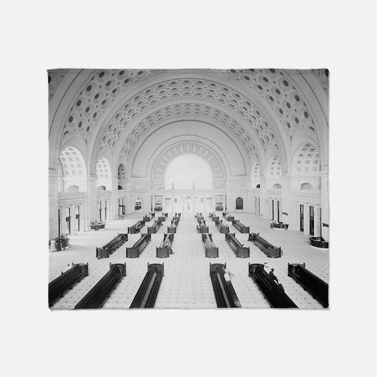 Union Station Grand Lobby, 1910 Throw Blanket