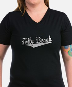 Folly Beach, Retro, T-Shirt