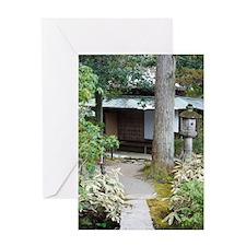 Isuien Garden Tea Ceremony House Greeting Card