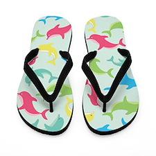 Darling Dolphins Flip Flops