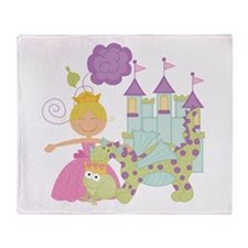 Blond Princess Throw Blanket