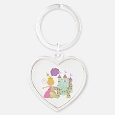 Blond Princess Heart Keychain
