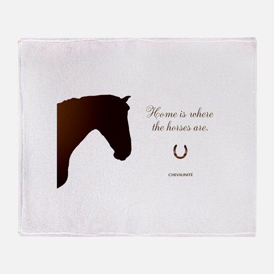 Horse Design by Chevalinite Throw Blanket