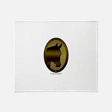Horse Design by Chevalinite Throw Blanket