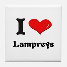 I love lampreys  Tile Coaster