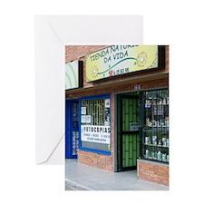 Bogota Storefronts Greeting Cards