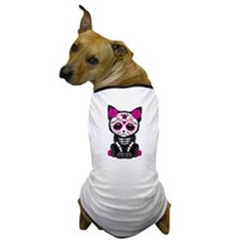 Cute Pink Day of the Dead Kitten Cat Dog T-Shirt