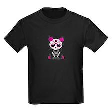 Cute Pink Day of the Dead Kitten Cat T-Shirt
