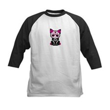 Cute Pink Day of the Dead Kitten Cat Baseball Jers