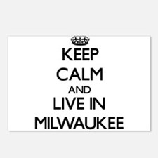 Keep Calm and live in Milwaukee Postcards (Package