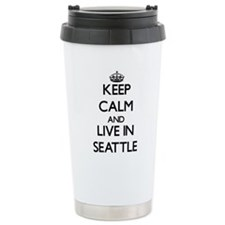 Keep Calm and live in Seattle Travel Mug