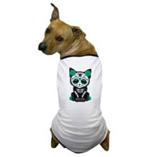 Cute Teal Day of the Dead Kitten Cat Dog T-Shirt