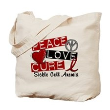 Sickle Cell Anemia PeaceLoveCure1 Tote Bag